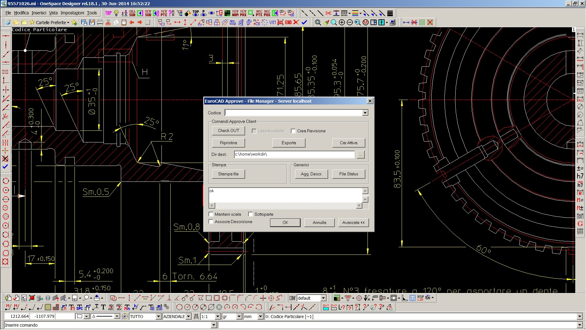Approve client PTC Creo Elements/Direct Drafting (ME10)